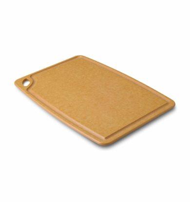 Carving board (skærebræt med saftrille og gummifødder) 30×45 cm, natur