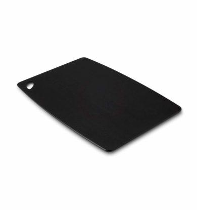 Skridsikkert skærebræt (med gummifødder), 30×45 cm, sort
