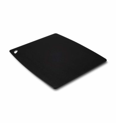 Skridsikkert skærebræt (med gummifødder), 40×48 cm, sort