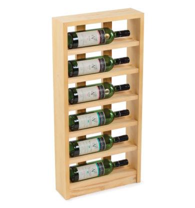Traditional Wine Racks: Scallops 6 flasker fyrretræ i farven 'Lys Eg'