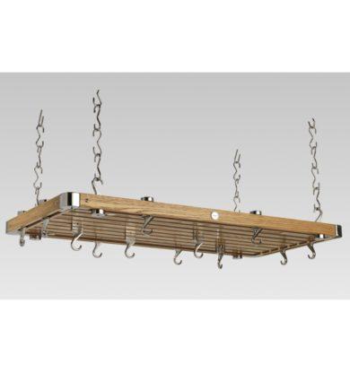 Oak Large Rectangular Ceiling Rack