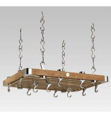 Oak Medium Rectangular Ceiling Rack